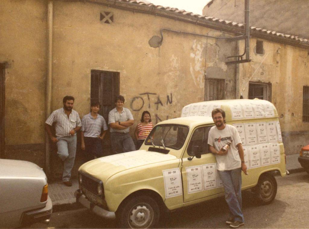 La unitat mòbil de Ràdio la Llagosta, a finals dels anys 80.