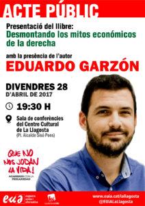 Presentació del llibre d'Eduardo Garzón.