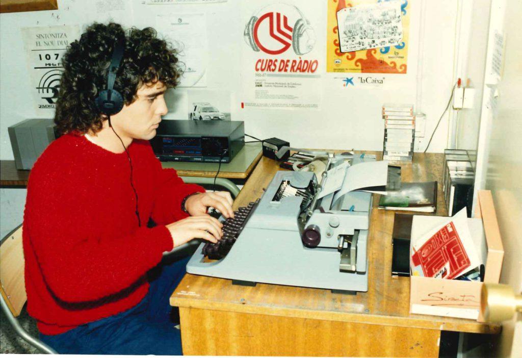 Carles Quílez, periodista de Ràdio la Llagosta.