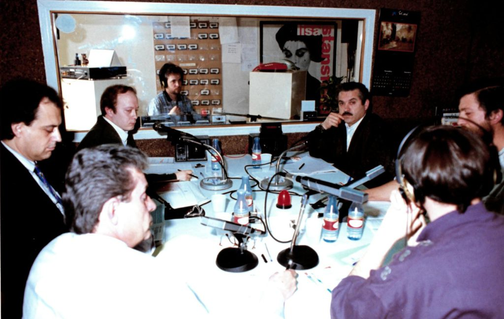 Debat amb els candidats a l'alcaldia de les eleccions municipals de 1991.