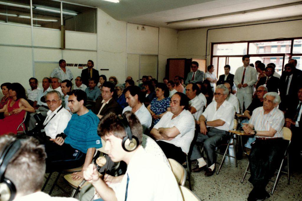 Retransmissió en directe del Ple de constitució de l'Ajuntament de la Llagosta, el 15 de juny de 1991.